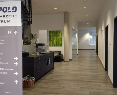 Kundenfoyer in der Digitalwerkstatt